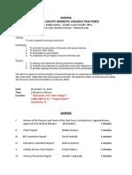 PCDVTF Agenda November 2018