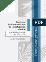 Congreso Latinoamericano de Investigación Musical 2018
