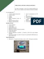 Análisis de Cobre Electrolito