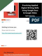 Practicing Applied Digital Skills Using Google Docs and Slides