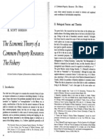 The Economic Theory of a Common-property Resource the Fishery