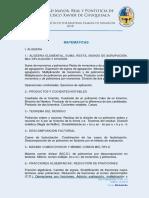 Programas Analiticos Examen de Admision