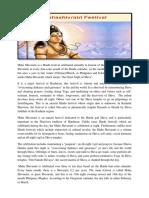 Maha Shivaratri is a Hindu Festival Celebrated Annually in Honour of the God Shiva