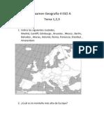 Examen Geografía 4 ESO A