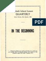 SDARM Bible Study Qtr. 1 1959