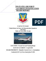 UNITED STATES AIR FORCE AIRCRAFT ACCIDENT INVESTIGATION BOARD REPORT