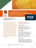 La Certificacion de Los Sistemas de gestión documental