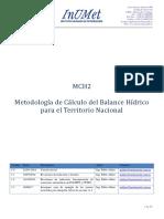 Metodologia Balance Hidrico - InUMET