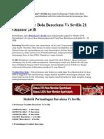 Prediksi Skor Bola Barcelona vs Sevilla 21 Oktober 2018