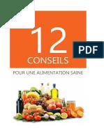 12 Conseils pour une alimentation Saine