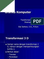 Pertemuan 6 Transformasi 3 Dimensi