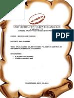 Aplicaciones Del Método Del Volumen de Control en Sistemas de Tuberías y Accesorios.