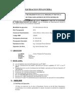 Informe de Liquidacion Financiera