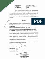 César Hinostroza - impedimento de salida del país