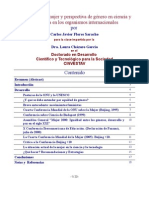 Derechos de la mujer y perspectiva de género en ciencia y tecnología en los orgs. inter. por Carlos J Flores Saracho