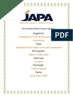 Tarea II- Fundamentos Y Estructura Del Currículo Dominicano Nancy