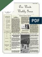 Newsletter Volume 9 Issue 34