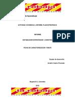 Actividad 3 Evidencia 2, Informe Plan Estratégico