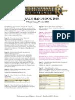 Age of Sigmar Generals Handbook Errata En