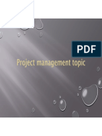 Project Management & Risk Analysis