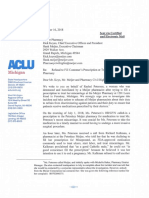 ACLU Letter