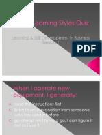 VAK Learning Styles Quiz