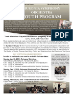 2018-19 Huronia Symphony Youth Program Application DUE NOVEMBER 1 2018