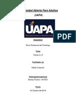 Tareas 4 y 5(Etica Profesional Del Psicologo)