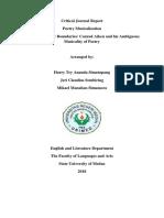 Critical Journal Report