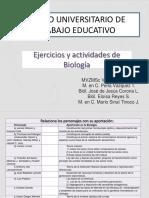 08 Ejercicios y Actividades de Biología