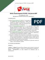 Decreto Supremo -29165 Creacion Del Senarecom