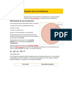 Formula de Circunferencias