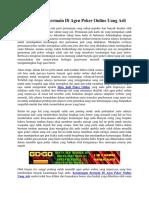 Keuntungan Bermain Di Agen Poker Online Uang Asli   Gogopoker99