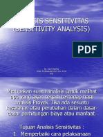 7. Analisis Sensitivitas (Sensitivity Analysis)