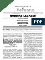 Normas Legales - Autorización de presupuesto para realización de referéndum