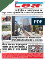 Periódico Lea Jueves 18 de Octubre Del 2018