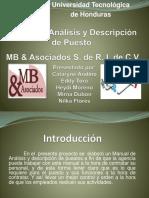 Presentacion Manual de Analisis y Descripcion de Puesto Recursos Humanos 1