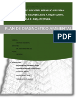 Plan de Diagnostico Ambiental. huanuco