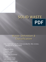 The Management of Solid Waste