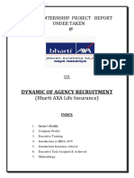 Internship Report on Bharti AXA Life Insurance 151918732[1]
