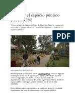 Cultivar El Espacio Público