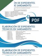 Elaboración de Expedientes Técnicos en Saneamiento