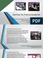 Manfaat Tes Potensi Akademik / Fast Respon / 0822-3651-2343