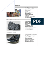 Principales Minerales en Moquegua