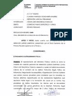 Resolución que ordena la ubicación y captura de César Hinostroza