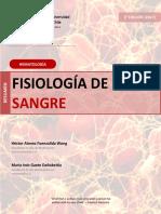 Resumen Fisiología de la Sangre (2° edición) [2017]