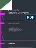 Aspek Legal Pendokumentasian Ppt