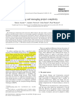 Austin - 2002 - Modelling and Managing Project Complexity