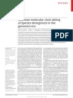Bayesian Molecular Clock Dating of Species Divergences in the Genomics Era