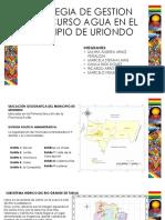 Estrategia de Gestion Para El Recurso Agua en El Municipio de Uriondo